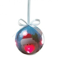 Santa Claus Light-Up Christmas Tree Ornament