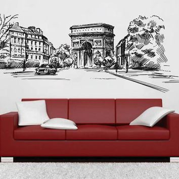 ik2686 Wall Decal Sticker Saint-Denis Gate France Paris street city hall bedroom