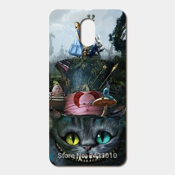 For Lenovo Vibe P1M P70 K3 K5 K6 Note A536 A5000 A319 S60 ZUK Z2 Z1 Alice in Wonderland Cat ensemble phone cases Patterned Cover