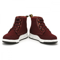 Dr. Martens Womens Burgundy Oxblood Telkes Knit Boots