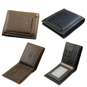 Classic Men's Cow Leather Wallet Pockets Card Collector Bifold Purse Bag