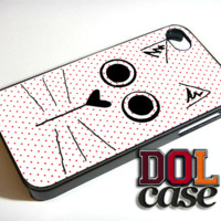 Pink Polkadot Cat Kitty iPhone Case Cover|iPhone 4s|iPhone 5s|iPhone 5c|iPhone 6|iPhone 6 Plus|Free Shipping| Consta 221