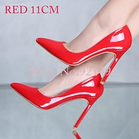 Women's High Thin Heels Pumps Pointed Toe Shoes