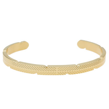 *Mister Feather Cuff Bracelet - Gold