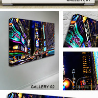 New York City Broadway Lights Canvas
