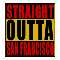 Straight Outta San Francisco Red by straightoutta