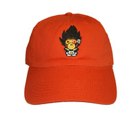 Talento Bape V Dad Hat In Orange