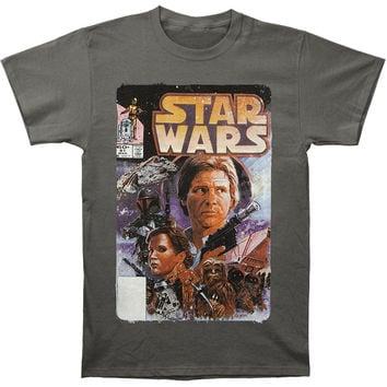 Star Wars Men's  Comic T-shirt Grey Rockabilia