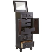 Ashworth Jewelry Armoire - Rubbed Black