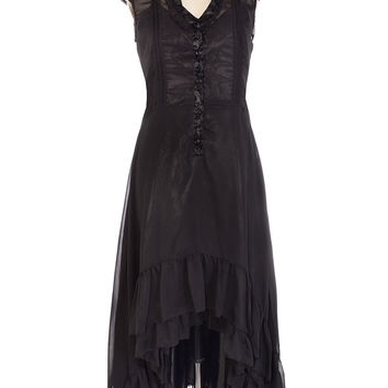 Ravaged Romance Black Hi-Lo Dress