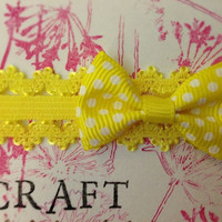Sunny yellow lace headband with 1.5 yellow with by KatiecraftShack