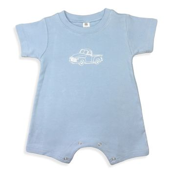 Vintage Truck Short Sleeve Infant Romper
