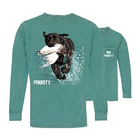 Southern Couture Priority Lab Duck Pocket Unisex Long Sleeve T-Shirt