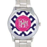 Stainless Steel Monogrammed Watch by SassySouthernGals on Etsy