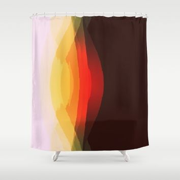 Warm Abstract Shower Curtain by SimplyChic