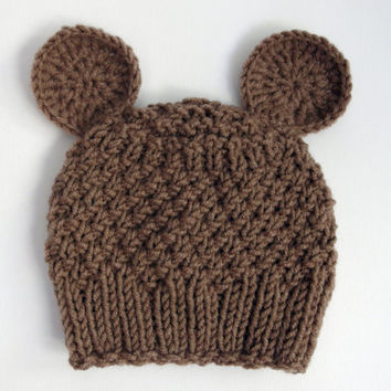Knitting Pattern Baby Hat With Bear Ears : Best Bears Knit Hat Products on Wanelo