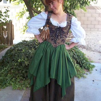 Renaissance Wench Pirate Faire Petal Skirt Short Overskirt Multiple Colors Available