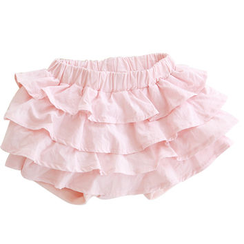 2016 New fashion girls tutu skirts baby ballerina skirt childrens pleated lace skirts kids casual candy color skirt beach pants