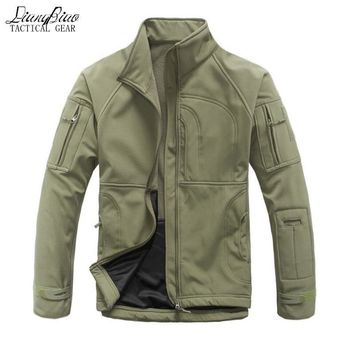 Trendy Waterproof winter Men's Jacket Coat Military Clothing Tactical Outwear US Army Breathable Nylon Light Windbreaker stand collar AT_94_13