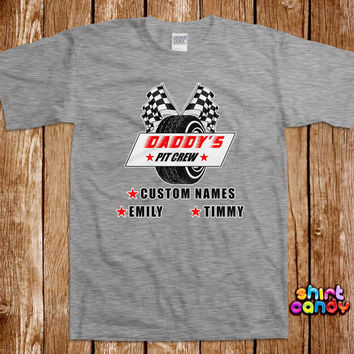 Daddy's Pit Crew T shirt Father's Day Custom Gift For Dad Personalized Best Dad Racing Tee Birthday Gift For Him Tee Shirt Husband Expecting