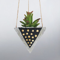 Air Planter, Succulent Planter, Concrete Planter, Hanging Planter, Succulent Holder, Geometric Planter, Black Planter, Succulent Pot, Gold
