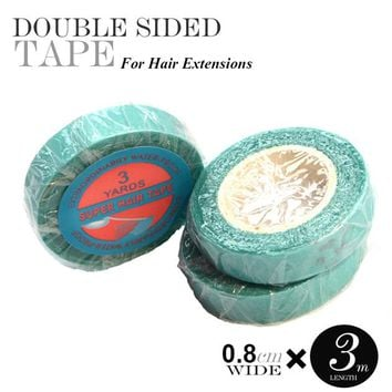 100pcs 0.8cm/1cm*3Yard finest quality tape for hair extension double sider glue tape human hair with supertape
