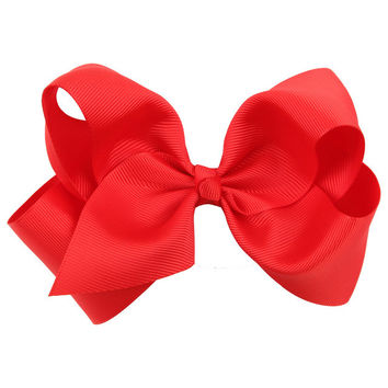 1PC Cute Children Kids Baby Girls Big Ribbon Hair Bows Boutique Hair Clip Hairpin Hair Accessories