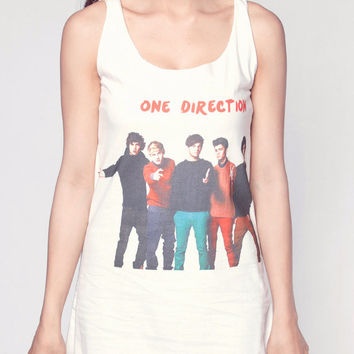 One Direction Shirt 1D Pop Boy Band Full Color Tank Top Women Shirts White Shirt Tunic Top Vest Sleeveless Women T-Shirt Size S M