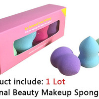 Pro Beauty Flawless Makeup Blender Foundation Puff Sponges (4 Pieces)