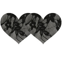 Black Lace Heart Pasties