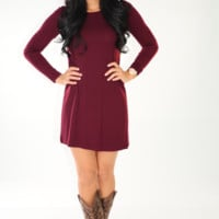 Simple And Flawless Dress: Merlot | Hope's
