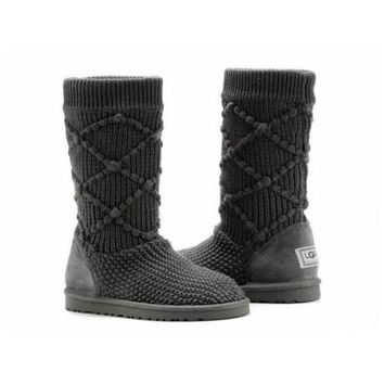Gotopfashion Uggs Boots Black Friday Knit Classic Argyle 5879 Charcoal For Women 95 33