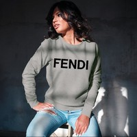 FENDI Unisex Crew Neck Sweatshirt