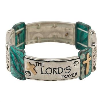 Christian Bracelet - The Lord's Prayer (Turquoise)