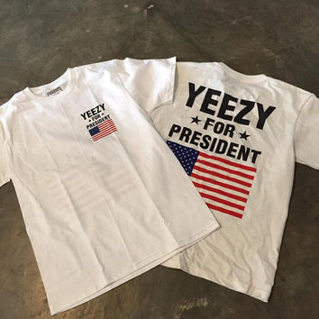 Yeezy for president kanye west tee, M,L