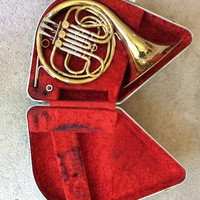 French Horn, Brass Instrument, Olds Son Ambassador, Schilke 30 Mouthpiece & Case, Concert Marching Band Instruments, FREE US Shipping