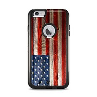 The Wooden Grungy American Flag Apple iPhone 6 Plus Otterbox Commuter Case Skin Set