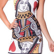 Design 3057 - Queen of hearts above knee sleeveless mini dress