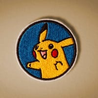 Pokemon Portraits  Pikachu Portrait  Embroidered by OKsmalls