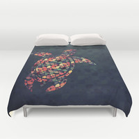 The Pattern Tortoise Duvet Cover by VessDSign | Society6