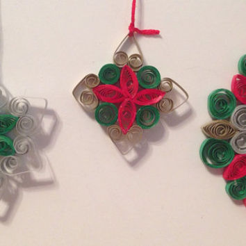 Christmas ornament, quilling ornament, handmade ornament, paper quilling, Christmas decor, quilling, Christmas