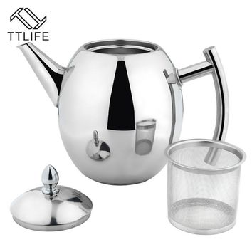 TTLIFE 2017 High Quality 1000ML/1500ML Stainless Steel Coffee Kettle Teapot Coffee Kettle Style Tea and Coffee Drip Kettle pot
