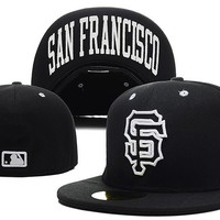 qiyif San Francisco Giants New Era MLB Authentic Collection 59FIFTY Hat Black-White