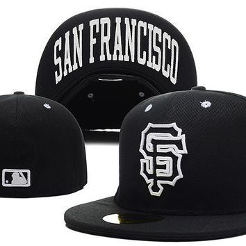 hcxx San Francisco Giants New Era MLB Cap Americana Ultimate 59FIFTY Black HAT
