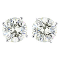 10.08 Carat GIA Cert Diamond Gold Stud Earrings