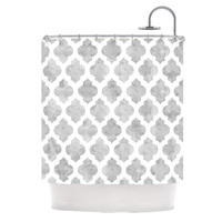 """Amanda Lane """"Gray Moroccan"""" Shower Curtain, 69"""" x 70"""" - Outlet Item"""