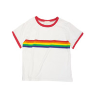 Rainbow Striped T-Shirt by Cloud 97