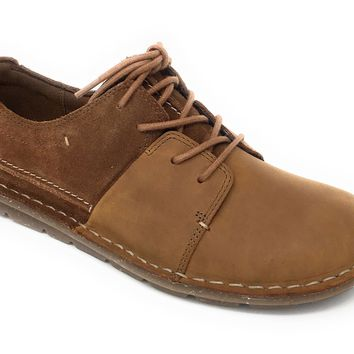 Clarks Tamitha Daisy Dark Tan Leather/Suede Combo Lace-Up Shoes