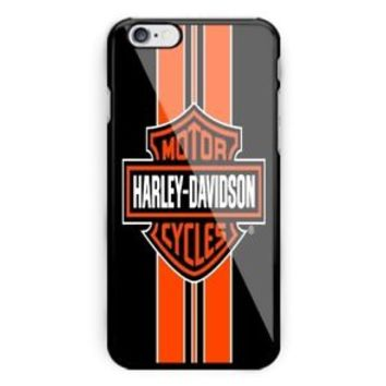 Best Harley Davidson Stripe Black Orange iPhone 7 and 7 Plus Hard Plastic Case