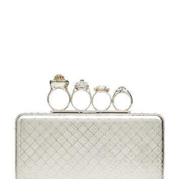 Metallic Ring Box Clutch - Alexander McQueen | WOMEN | US STYLEBOP.COM